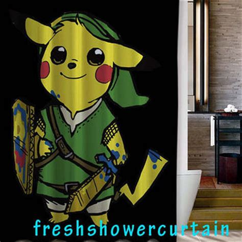 Pikachu Shower by The Legend Of Pikachu Shower Curtain From
