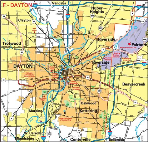 map of oregon district dayton ohio pages 2011 2014 ohio transportation map archive