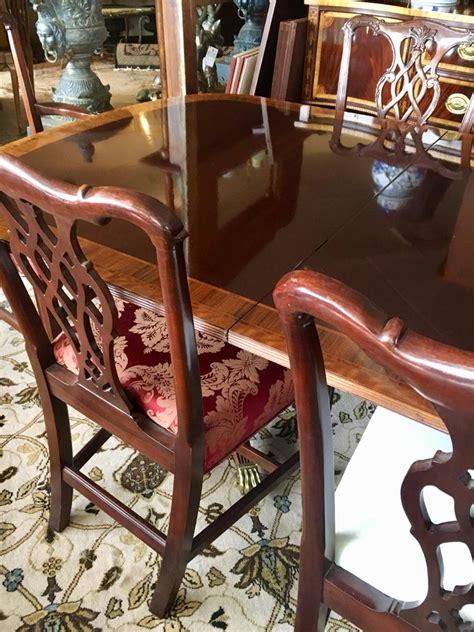 councill craftsman mahogany inlay dining room set table