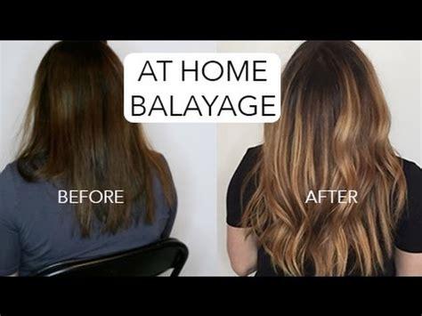 how to diy balayage hair