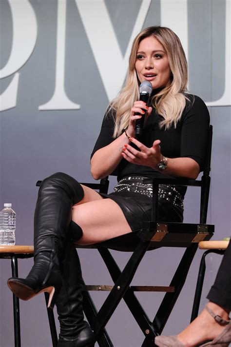Anara Coco Aexa hilary duff gorgeous in a black mini skirt and the