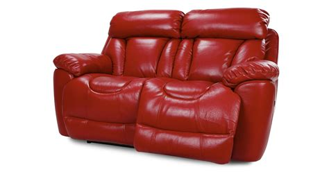red leather sofa recliner dfs supreme settee 2 seater red leather power recliner