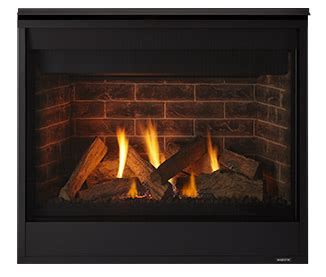 Shallow Gas Fireplace by Majestic Quartz Series Direct Vent Gas Fireplace 32