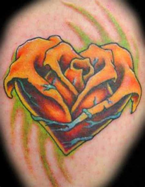 rose heart tattoos