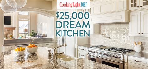 Cooking Light Sweepstakes - cooking light diet 25 000 dream kitchen thank you cooking light