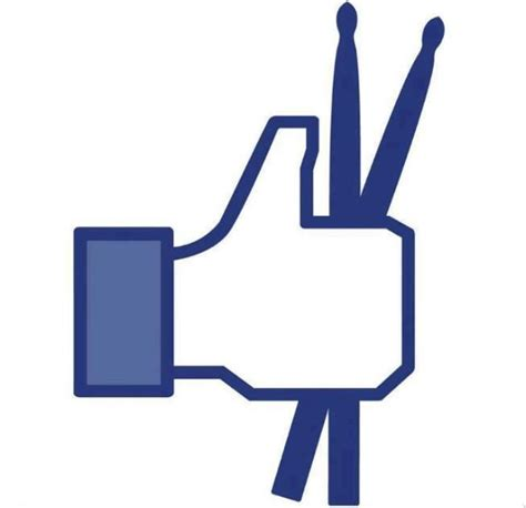 Facebook Like Meme - facebook like button looks way cooler with drumsticks
