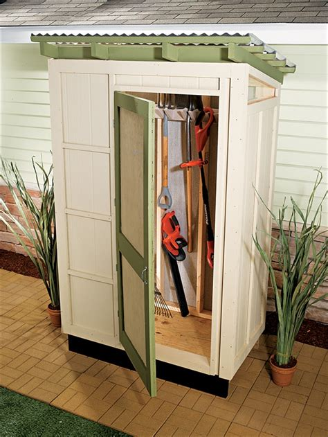 small outdoor storage closet 9 diy garden sheds with free plans and instructions