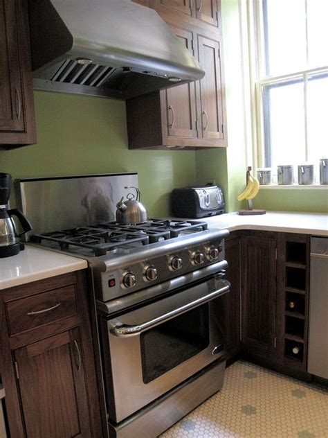 brown kitchen appliances mix of dark brown cabinet stainless steel appliance and