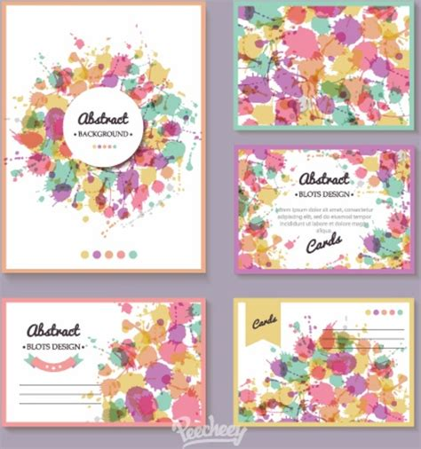 adobe illustrator greeting card templates free colorful splash greeting cards free vector in adobe