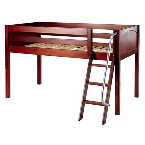 loft bed frame loft bed frame twin low loft hardwood 3 finishes