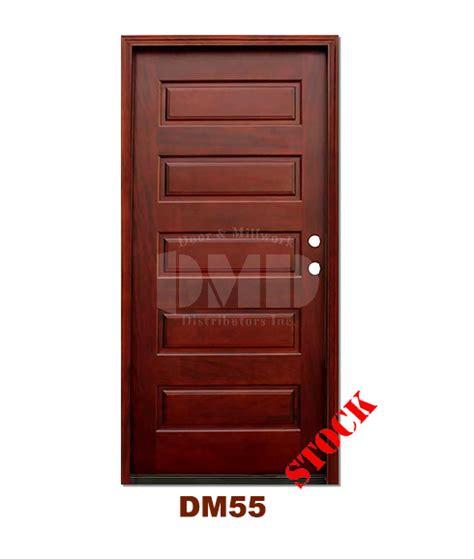 5 Panel Exterior Door with Dm55 5 Panel Contemporary Exterior Wood Mahogany Door Door And Millwork Distributors Inc