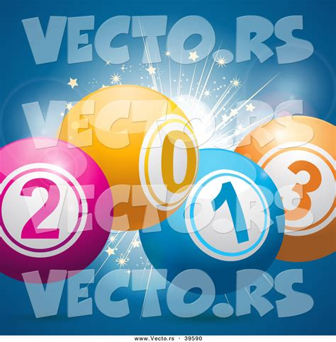 new year 2013 background vector free vector of 2013 new year bingo balls fireworks