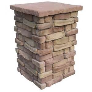 random stone brown 36 in outdoor decorative column rscb36 stone home interiors images