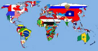 alterative world map the flag map next years