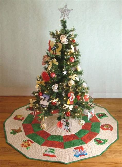 12 days of christmas tree skirt advanced embroidery designs