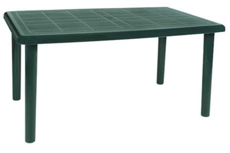 Green Plastic Patio Table Buy Resol Olot Outdoor Rectangular Garden Table Green Plastic 140 X 90cm From Our Plastic