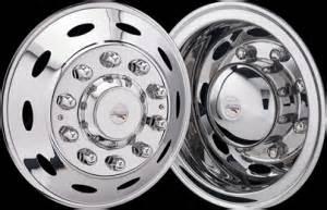 American Made Truck Wheels Semi Truck 304 Stainless Wheel Simulators Real Wheels