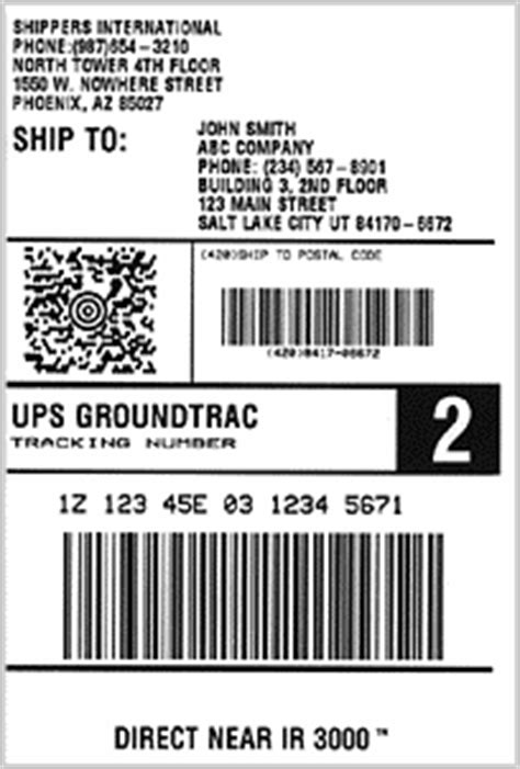ups label template barcode indonesia agustus 2008