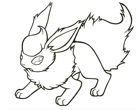 flareon free colouring pages