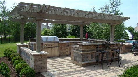 pergola outdoor kitchen plans pergolas italian 1675 a