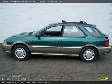 2000 subaru impreza outback 2000 subaru impreza outback sport wagon in acadia green
