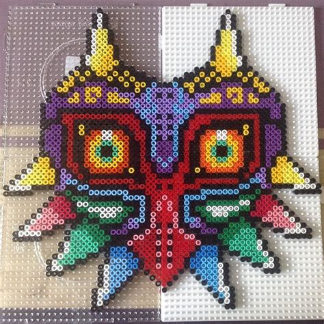 how to make a bead mask loz majora s mask hama by josefinecarolina perler