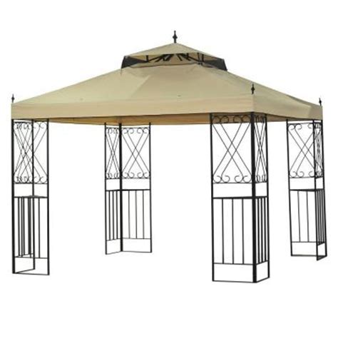 home depot gazebo sparta 12 ft x 10 ft gazebo l gz288pst 4d the home depot
