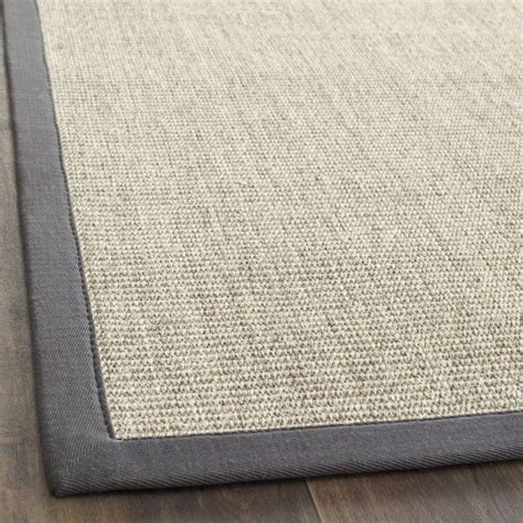 overstock grey rug woven serenity marble grey sisal rug 9 x 12