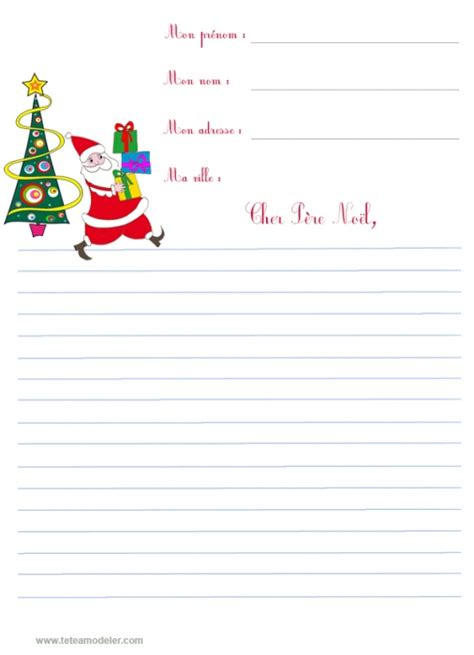 Exemple Lettre Pere Noel Imprimer Modele A Imprimer Lettre Au Pere Noel Document