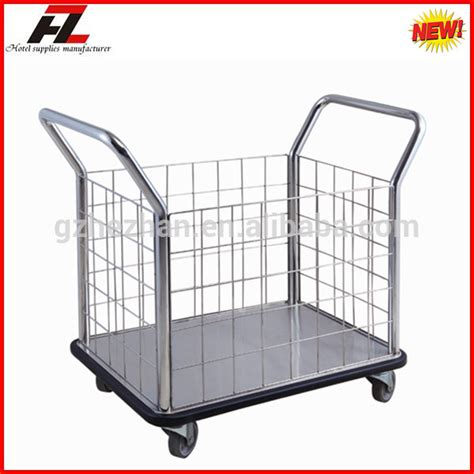 Laundry Trolley Design | hot sale stainless steel laundry trolley for linen