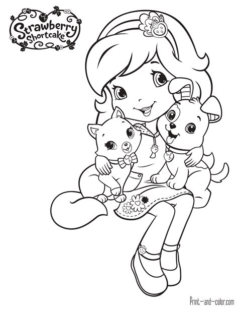 Strawberry Shortcake Coloring Pages Print And Color Com Colouring Pages To Print And Color