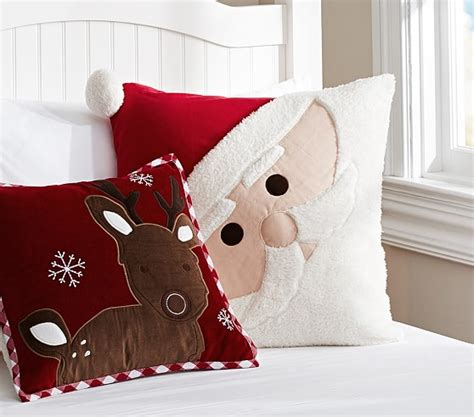 christmas decorative pillows pottery barn kids