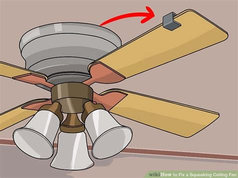 can ceiling fans be repaired how to fix a squeaking ceiling fan 8 steps with pictures