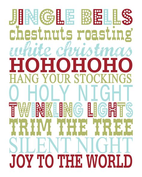 printable christmas christmas prints
