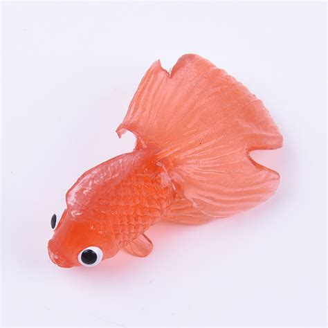 Stelan Gold Fish Kid 10 pcs plastic simulation small goldfish soft rubber floating gold fish ebay