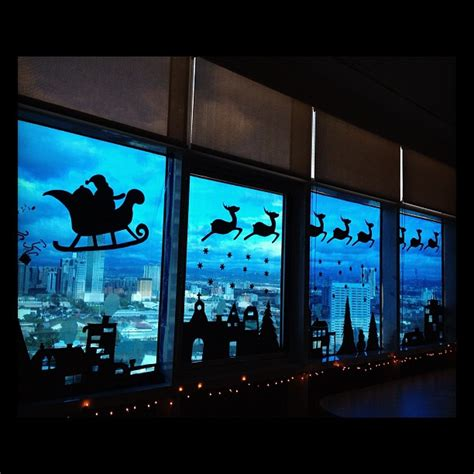 best christmas window silhouette decorations 2017