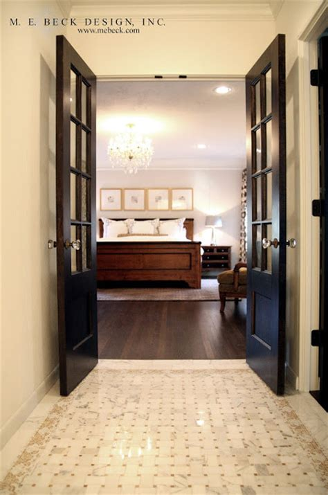 master bedroom double doors live beautifully 1920 s renovation the master bath
