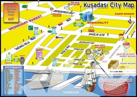 kusadasi map kusadasi map picture of erzincan restaurant kusadasi
