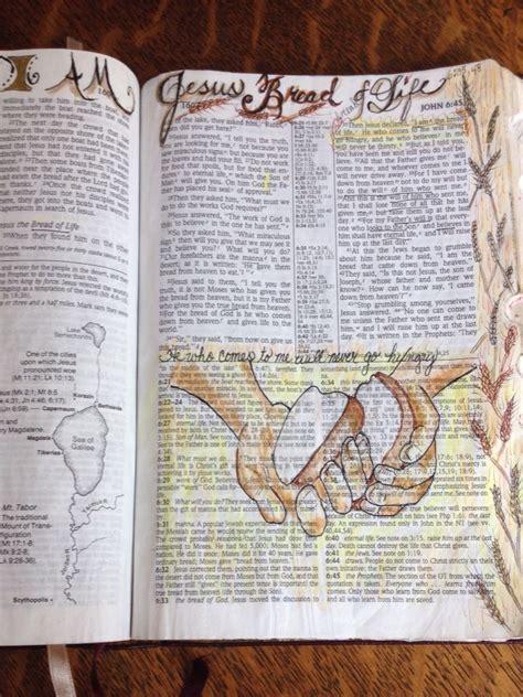 john  jesus bread  life bible art illustrated faith memory verse