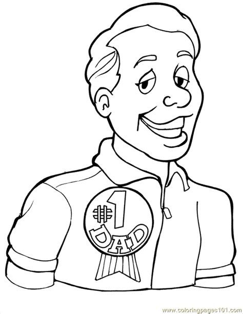 coloring pages for dad number 1 dad