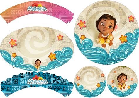 Wrapper Topper Cupcake 1pack Hello moana baby free printable cupcake toppers and wrappers