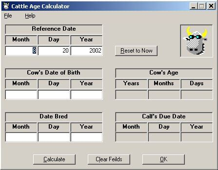 age calculator by breed running deer farms software cd cattle age calculator