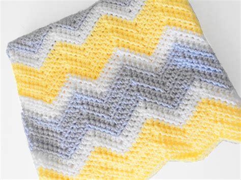 new crochet pattern for baby chevron blanket crochet crib size crochet chevron baby blanket in yellow white by