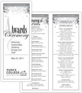 awards ceremony program template award recognition wording sles invitations ideas