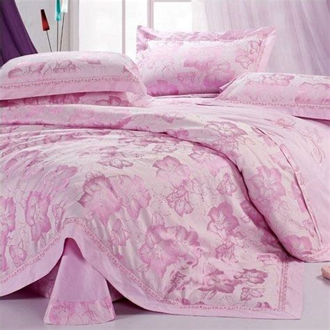 soft pink comforter elegant pink soft 4 pieces bedding set buytrends