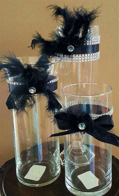 great gatsby centerpieces wedding centerpiece reception table vase set great gatsby