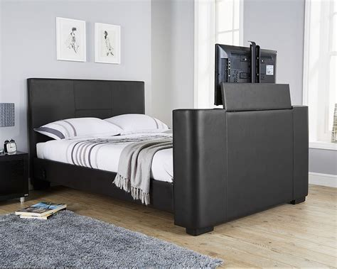 Futon Kaufen by Milan Bed Company Newark 4ft 6 Tv Bed Black
