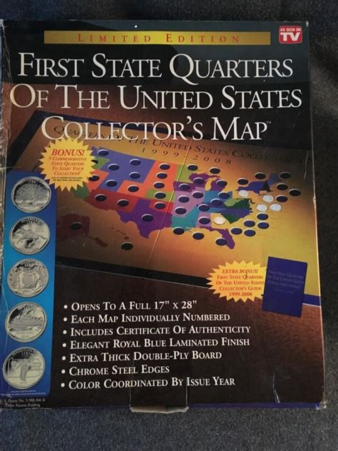 state quarters of the united states collectors map state quarters collectors map for sale classifieds