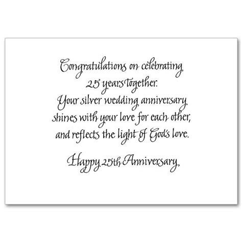 god s blessings on your silver anniversary 25th wedding anniversary card