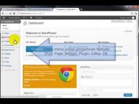 membuat web report cara membuat website sendiri bikin web dengan cms youtube